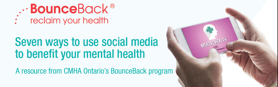 Photo about BounceBack program and using social media to benefit mental health