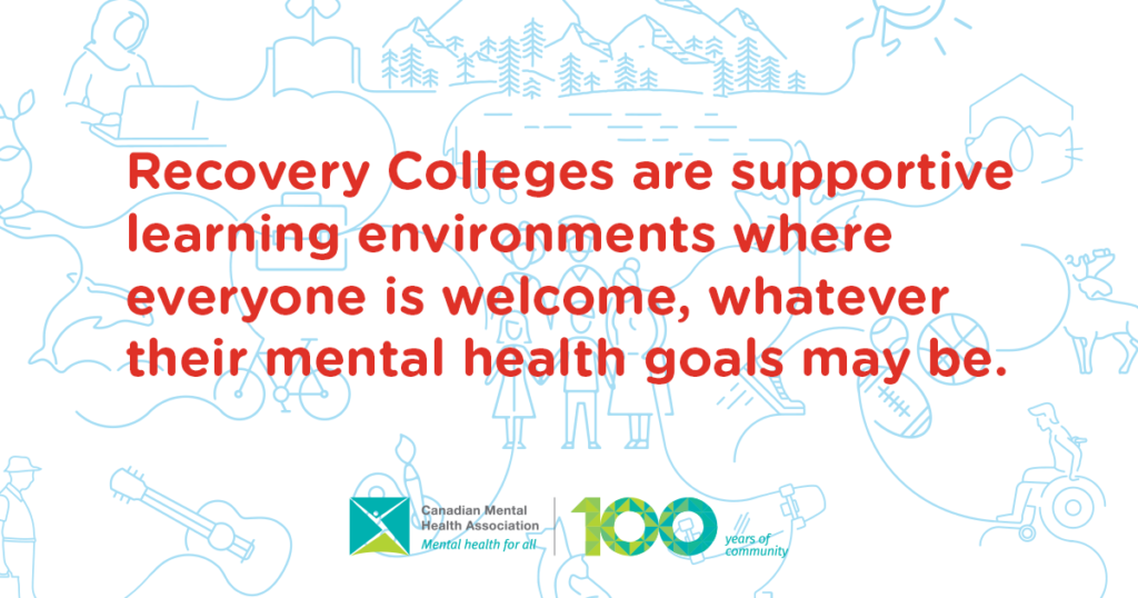 Recovery Colleges are supportive environments