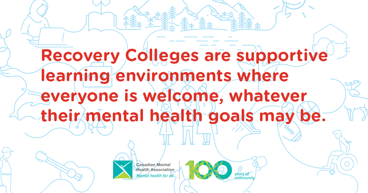 Recovery Colleges are supporting environments where everyone is welcome