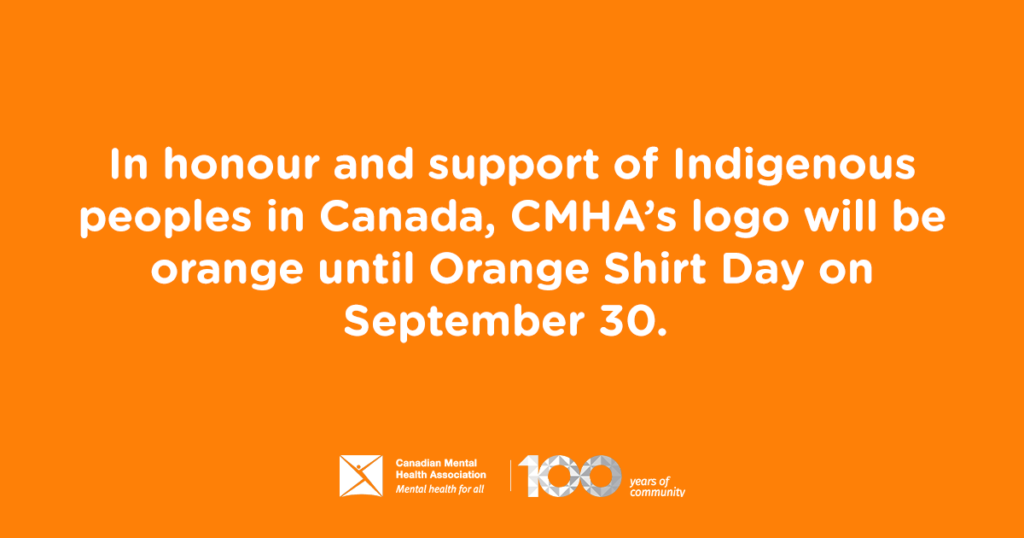 Orange logo to show support of Indigenous peoples