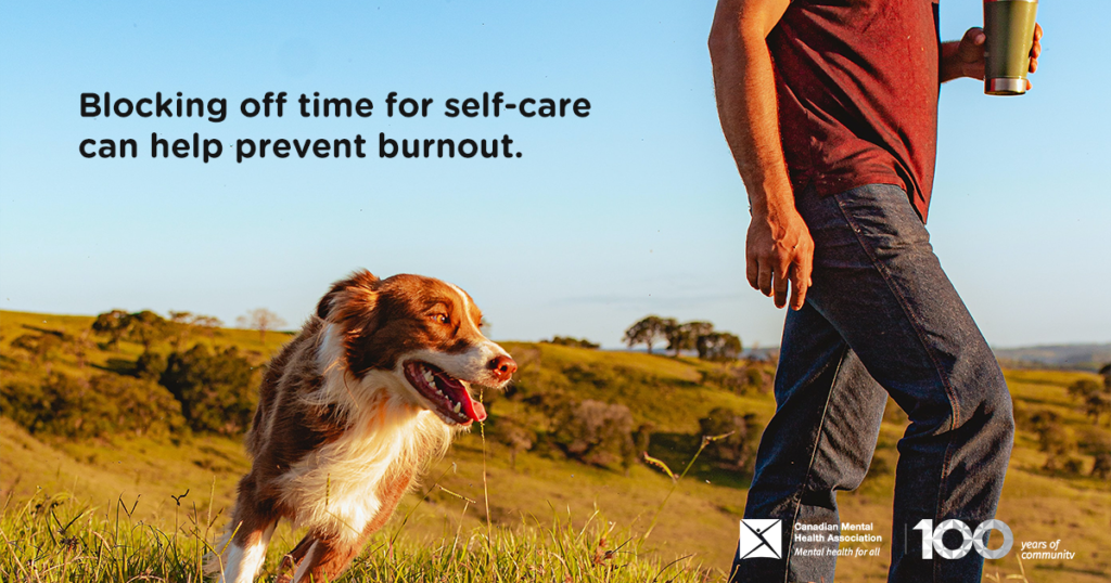 Take time for self care